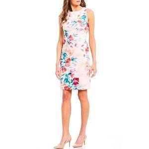 Calvin Klein Floral Starburst Sheath Dress NWT